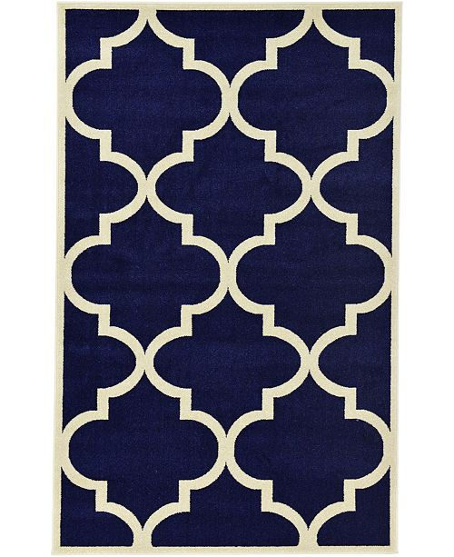 Bridgeport Home Arbor Arb3 Navy Blue 5' x 8' Area Rug