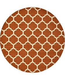 Arbor Arb1 Light Terracotta 8' x 8' Round Area Rug