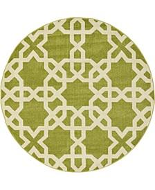 Arbor Arb5 Green 6' x 6' Round Area Rug
