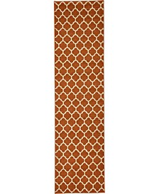"Arbor Arb1 Light Terracotta 2' 7"" x 10' Runner Area Rug"