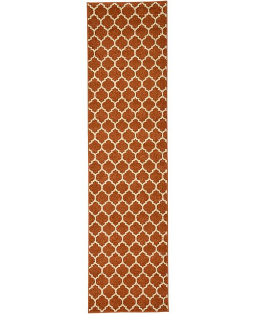"Bridgeport Home Arbor Arb1 Light Terracotta 2' 7"" x 10' Runner Area Rug"