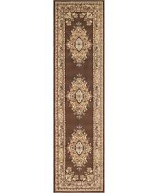 "Bridgeport Home Birsu Bir1 Brown 2' 7"" x 10' Runner Area Rug"