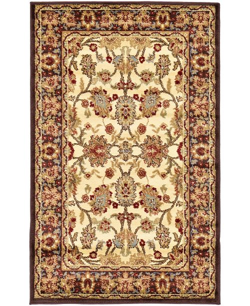 "Bridgeport Home Passage Psg3 Ivory 3' 3"" x 5' 3"" Area Rug"