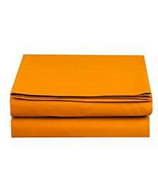 Silky Soft Single Flat Sheet Full Elite Orange