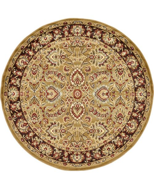 Bridgeport Home Passage Psg9 Tan 6' x 6' Round Area Rug