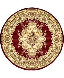 Belvoir Blv5 Red 6' x 6' Round Area Rug