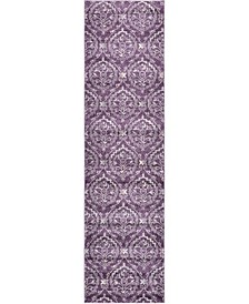 "Felipe Fel1 Purple 2' 7"" x 10' Runner Area Rug"