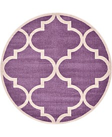 Arbor Arb3 Purple 6' x 6' Round Area Rug