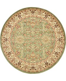 Passage Psg8 Light Green 6' x 6' Round Area Rug