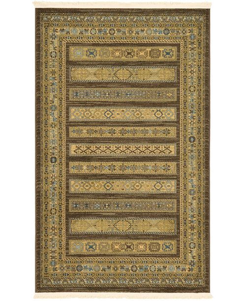 "Bridgeport Home Ojas Oja4 Brown 3' 3"" x 5' 3"" Area Rug"