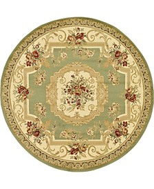 Belvoir Blv3 Green 6' x 6' Round Area Rug