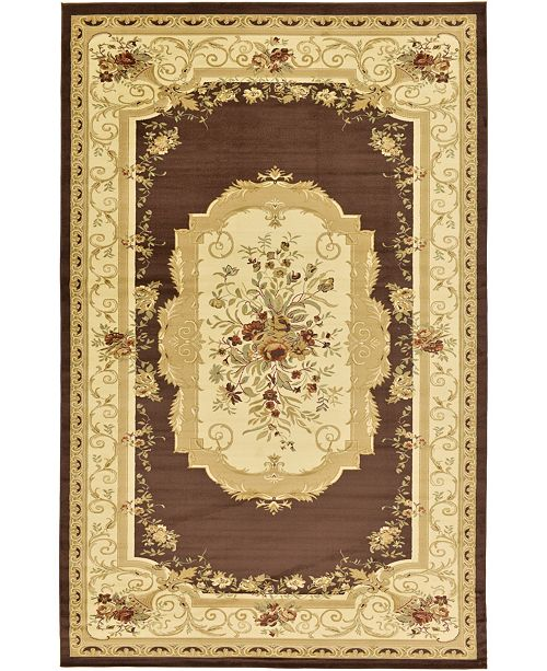"Bridgeport Home Belvoir Blv3 Brown 10' 6"" x 16' 5"" Area Rug"