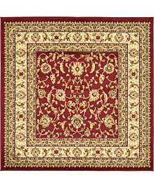 Passage Psg4 Red 4' x 4' Square Area Rug