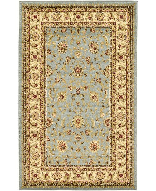 "Bridgeport Home Passage Psg4 Light Blue 3' 3"" x 5' 3"" Area Rug"