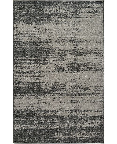 Bridgeport Home Lyon Lyo3 Dark Gray 5' x 8' Area Rug