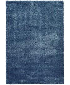 Bridgeport Home Jiya Jiy1 Navy Blue 6' x 9' Area Rug