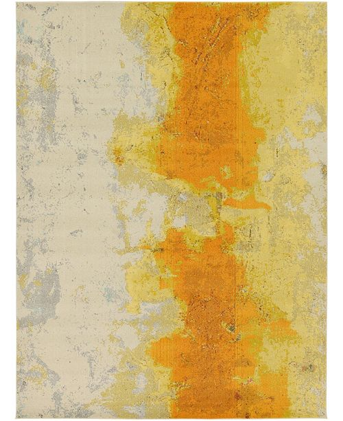 Bridgeport Home Newwolf New4 Yellow 9' x 12' Area Rug