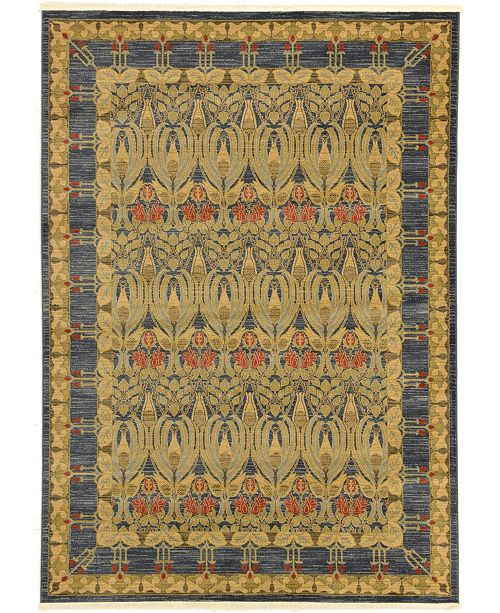 Bridgeport Home Orwyn Orw3 Blue 7' x 10' Area Rug
