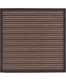 Bridgeport Home Pashio Pas6 Black 6' x 6' Square Area Rug