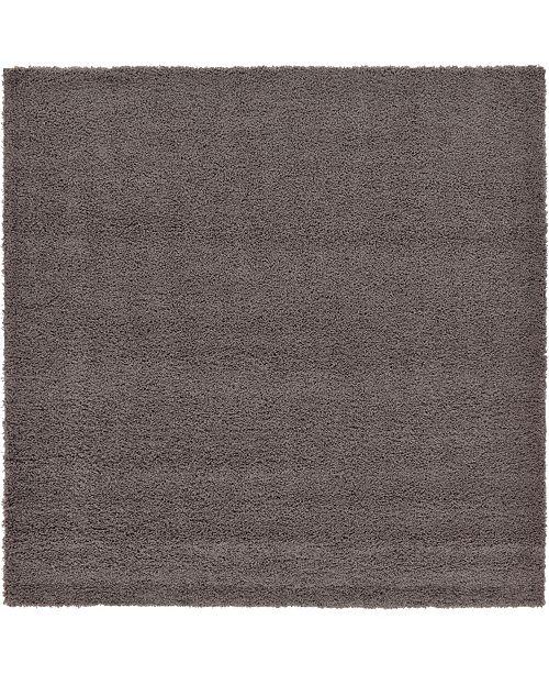 """Bridgeport Home Exact Shag Exs1 Graphite Gray 8' 2"""" x 8' 2"""" Square Area Rug"""