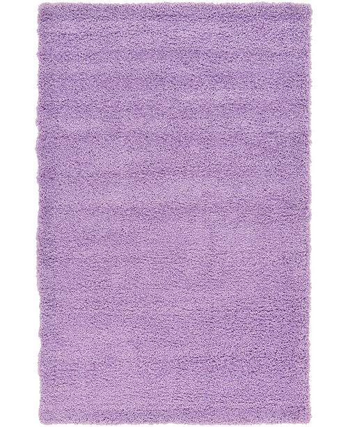 Bridgeport Home Exact Shag Exs1 Lilac 5' x 8' Area Rug