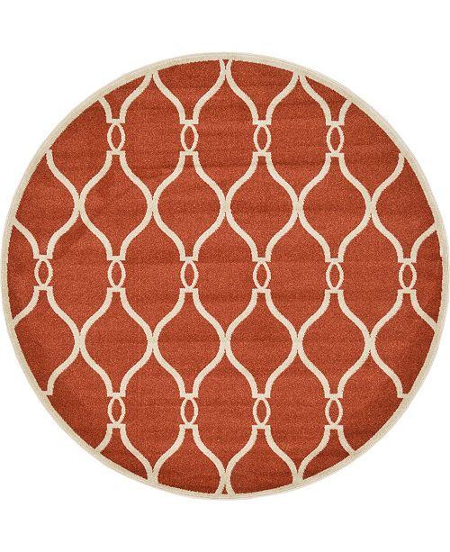 Bridgeport Home Arbor Arb6 Terracotta 6' x 6' Round Area Rug
