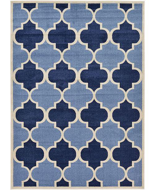 Bridgeport Home Arbor Arb7 Light Blue 7' x 10' Area Rug