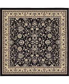 Bridgeport Home Arnav Arn1 Black 8' x 8' Square Area Rug