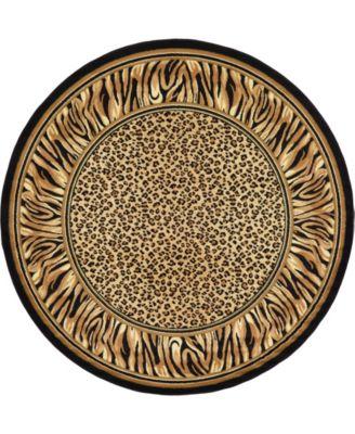Maasai Mss9 Light Brown 8' x 8' Round Area Rug