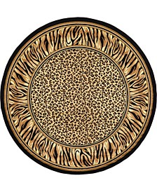 Maasai Mss9 Light Brown 8' x 8' Round Area Rug