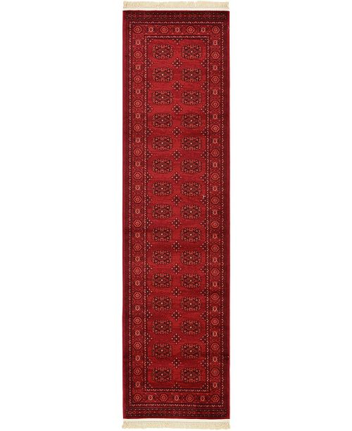 "Bridgeport Home Vivaan Viv1 Red 2' 7"" x 10' Runner Area Rug"