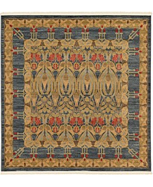 Orwyn Orw3 Blue 6' x 6' Square Area Rug