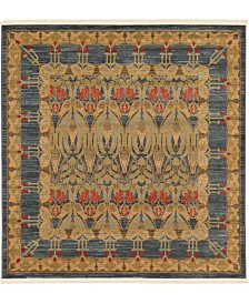 Bridgeport Home Orwyn Orw3 Blue 6' x 6' Square Area Rug