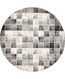 Maasai Mss1 Light Gray 8' x 8' Round Area Rug