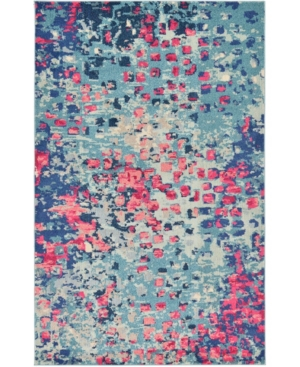 Bridgeport Home Adah Ada1 Blue 5' x 8' Area Rug