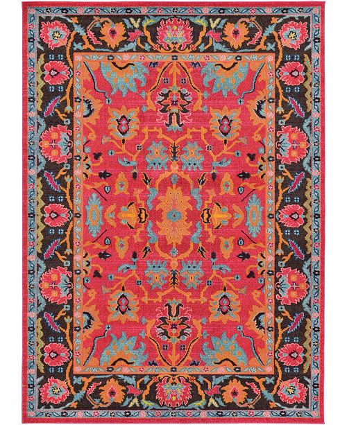 Bridgeport Home Sana San7 Fuchsia 7' x 10' Area Rug