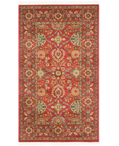 "Bridgeport Home Orwyn Orw1 Red 3' 3"" x 5' 3"" Area Rug"