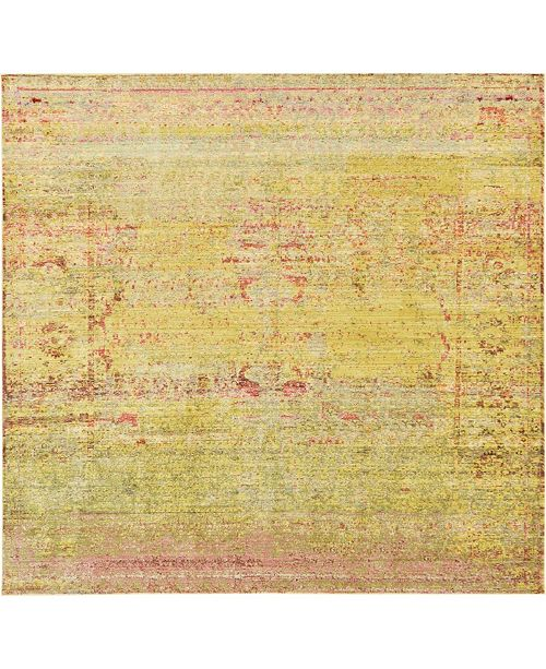 Bridgeport Home Malin Mal8 Yellow 8' x 8' Square Area Rug