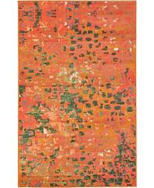 """Bridgeport Home Adah Ada1 Orange 3' 3"""" x 5' 3"""" Area Rug"""
