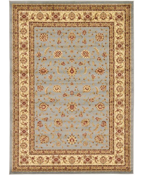 "Bridgeport Home Passage Psg4 Light Blue 8' x 11' 4"" Area Rug"
