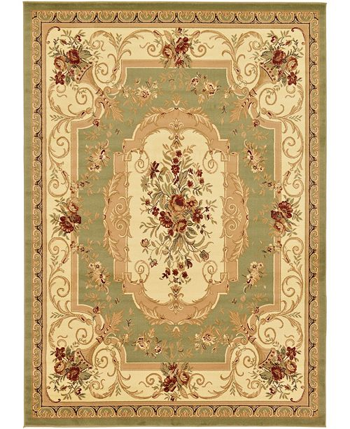 "Bridgeport Home Belvoir Blv3 Green 8' x 11' 4"" Area Rug"