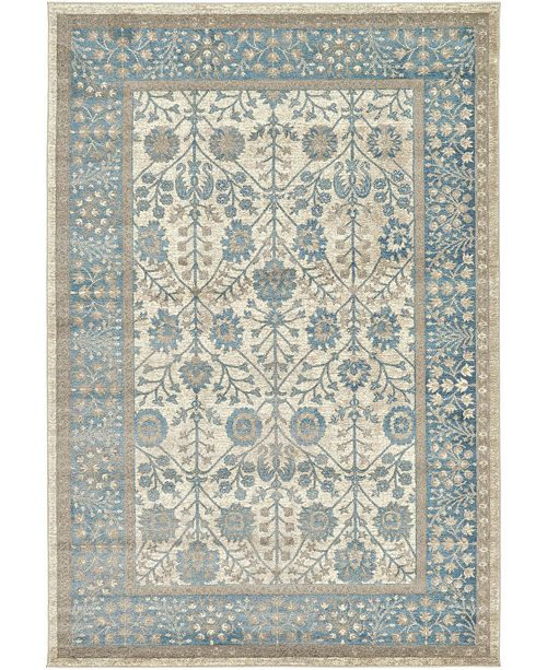Bridgeport Home Bellmere Bel3 Ivory 6' x 9' Area Rug