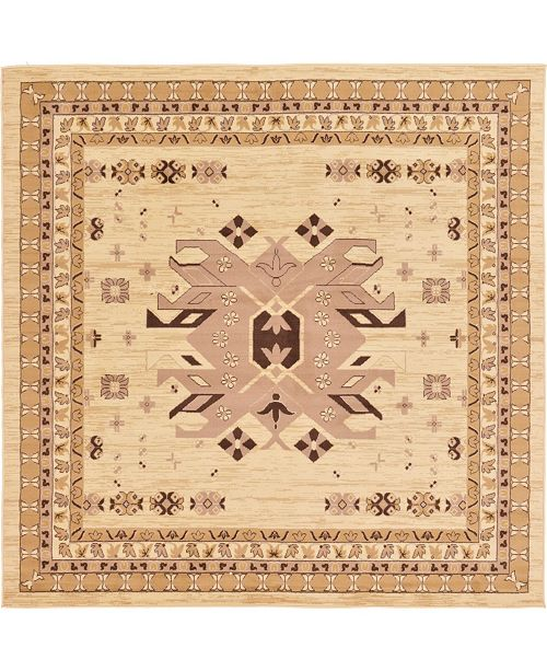 Bridgeport Home Charvi Chr1 Ivory 8' x 8' Square Area Rug