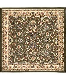Arnav Arn1 Green 8' x 8' Square Area Rug