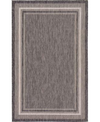 Pashio Pas5 Black 5' x 8' Area Rug