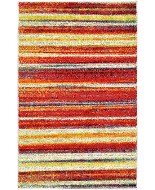 "Bridgeport Home Pari Par1 Multi 3' 3"" x 5' 3"" Area Rug"