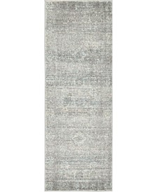 "Wisdom Wis3 Silver 2' 2"" x 6' Runner Area Rug"