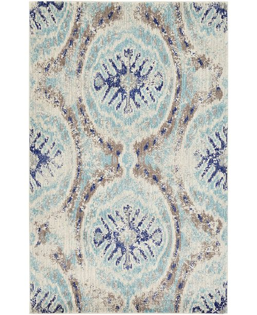 Bridgeport Home Wisdom Wis5 Blue Area Rug Collection