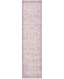"Norston Nor1 Purple 2' 7"" x 10' Runner Area Rug"