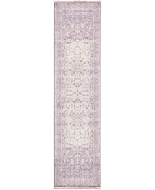 "Norston Nor3 Purple 2' 7"" x 10' Runner Area Rug"